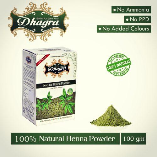 Natural Henna Powder - 100 gms
