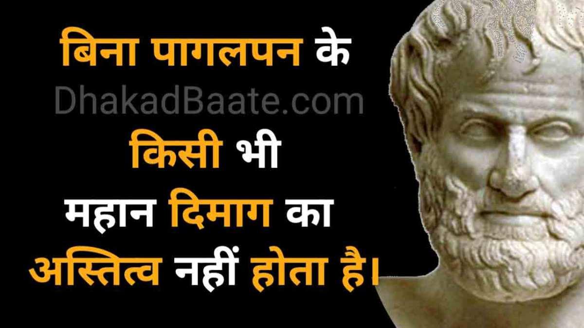 Hindi quotes of Aristotle