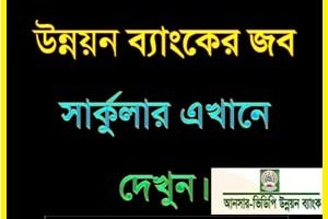 Ansar-VDP Unnayan Bank Job Circular