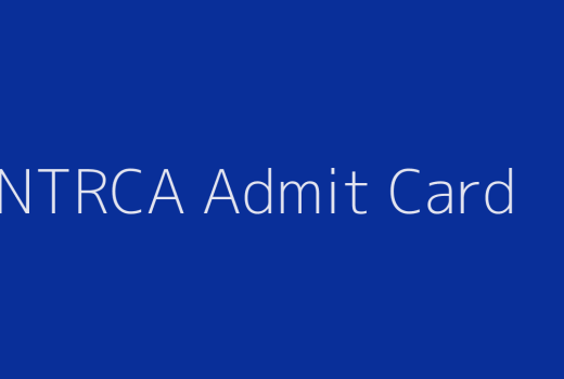 15th NTRCA Admit Card 2019
