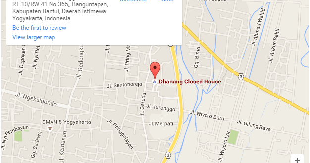 Peta Lokasi Dhanang Closed House