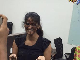 Ugly chocolate facial.