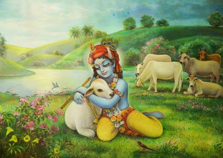 Krishna And Cows
