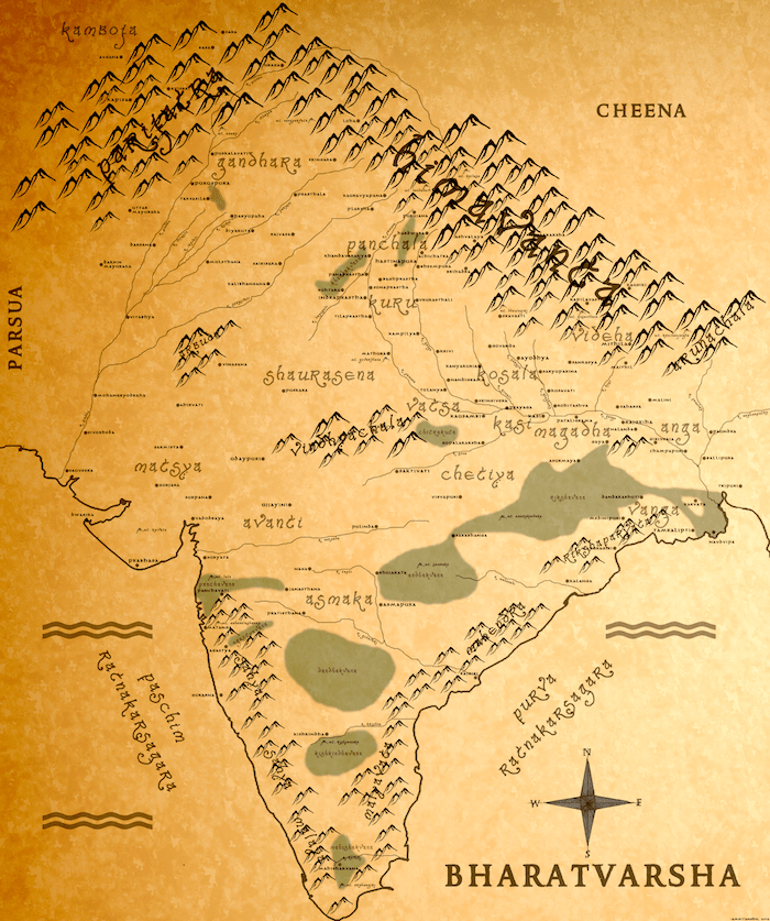 Ancient bharatvarsha-Map Created by Amritanshu Pandey