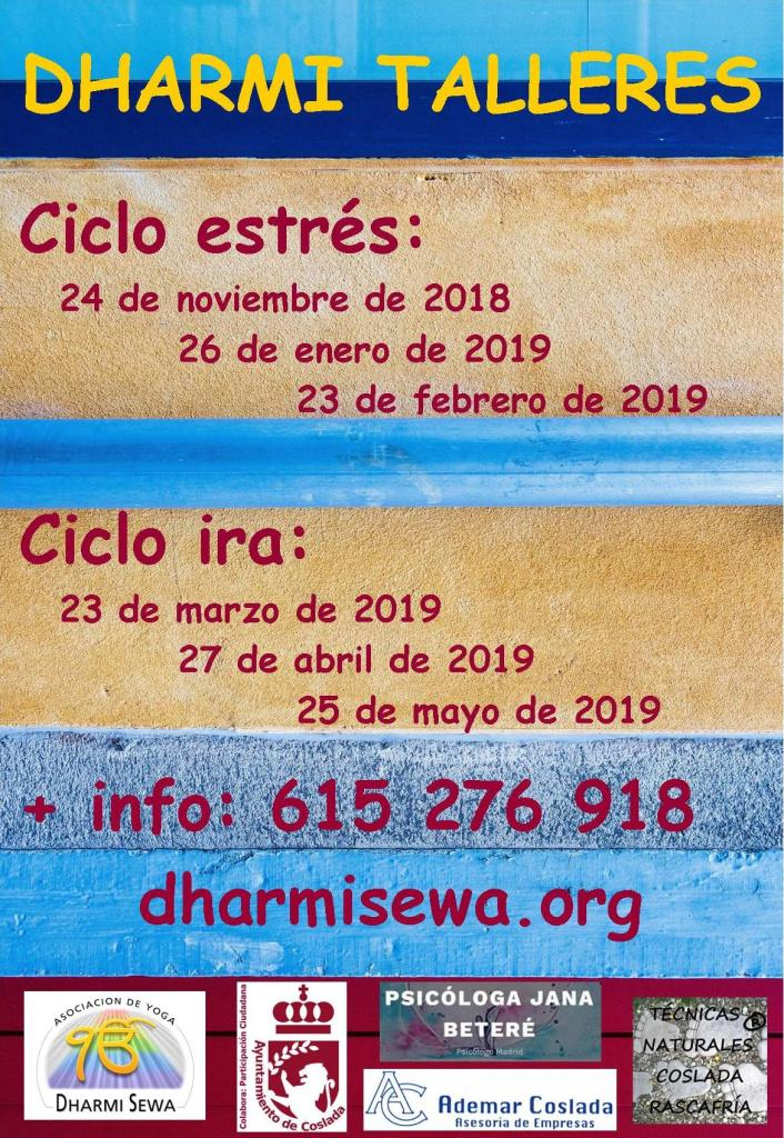 Dharmi Talleres 2018-2019 cartel