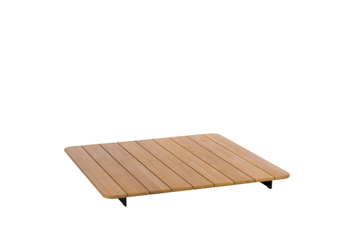 table carree plateau teck