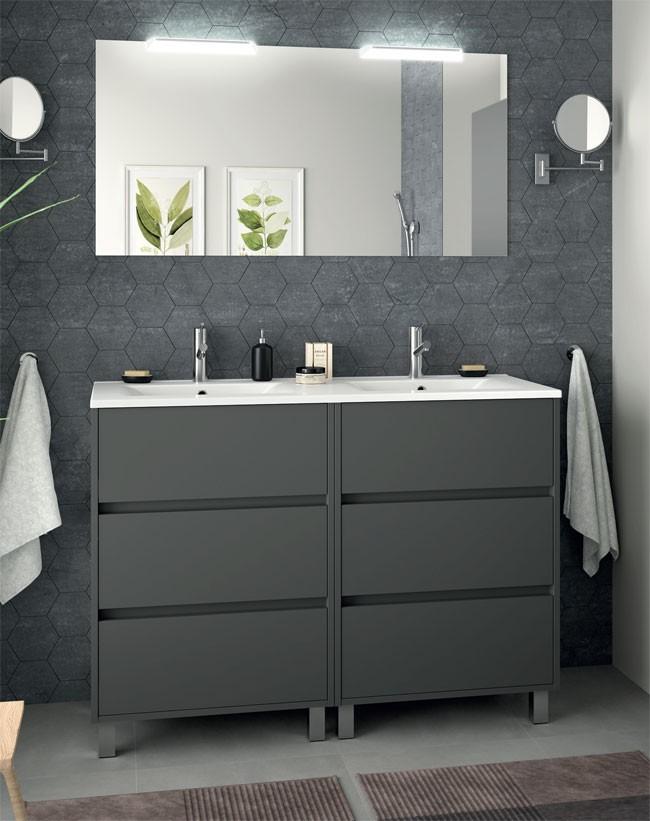 meuble salle de bain arenys 120 cm salgar