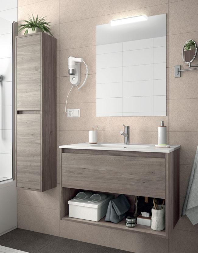 meuble salle de bain noja salgar 1 tiroir 1 espace