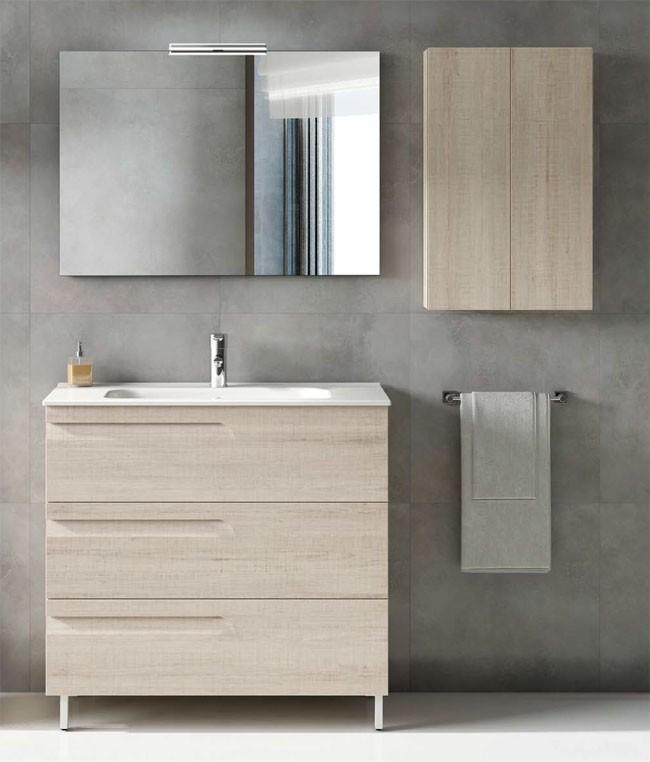 meuble salle de bain vitale royo 3 tiroirs