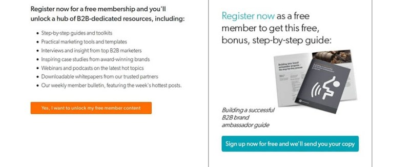 B2B Marketing's free membership offer.