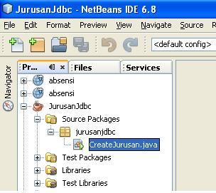 Membuat Tabel Jurusan Menggunakan Java JDBC (1/2)