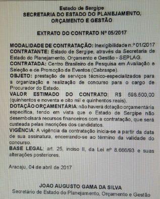 concurso PGE Sergipe