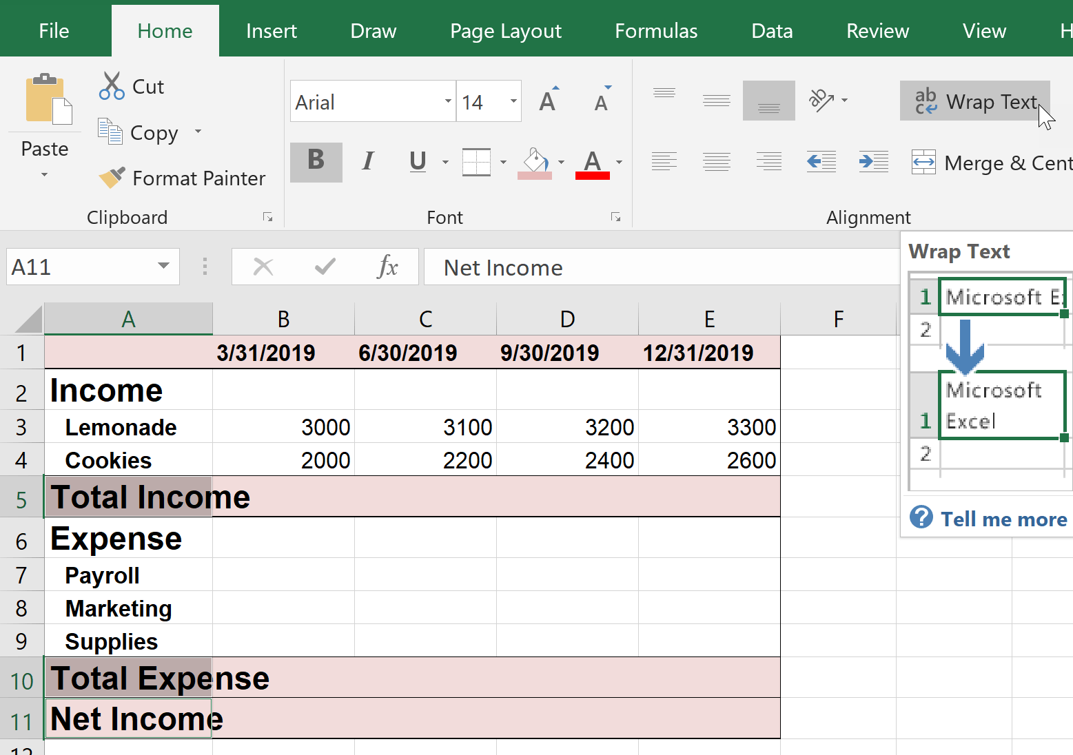 Tutorial Formatting Microsoft Excel Worksheets