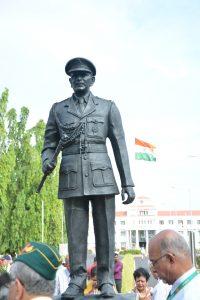 சென்னை ஆலந்தூரில் கமாண்டோ கே.எம்.கரியப்பாவிற்கு சிலை