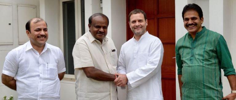 காங்கிரஸ் தலைவர் ராகுலுடன் கர்நாடக முதல்வர்  சந்திப்பு