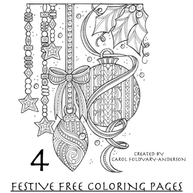 New eBook: Christmas Coloring Pages for Adults - FaveCrafts