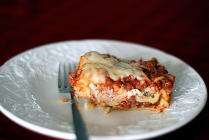 lasagna on plate 5