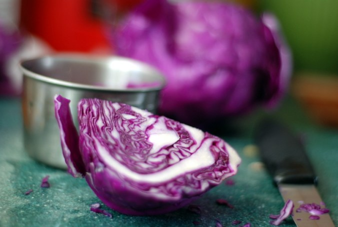 red cabbage chopped