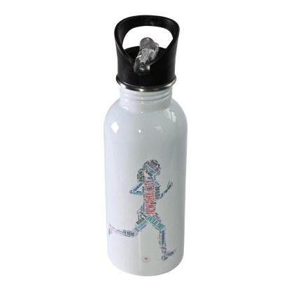 New York City Running Woman Water Bottle