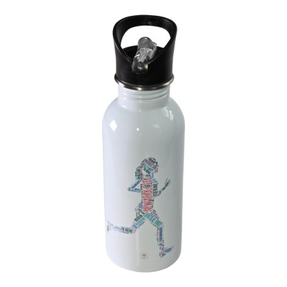 New York City Running Woman Water Bottle