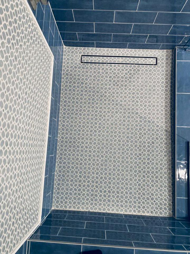 subway tile pattern bathroom remodel