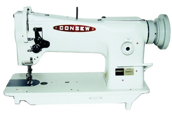 Consew 206RB Triple Feed, Heavy Duty, Single Needle, Drop Feed, Needle Feed, Compound Feed, Alternating (Walking) Presser Feet, Lockstitch Machine