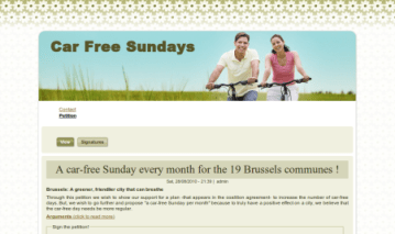 A car-free Sunday every month for the 19 Brussels communes ! - Car Free Sundays