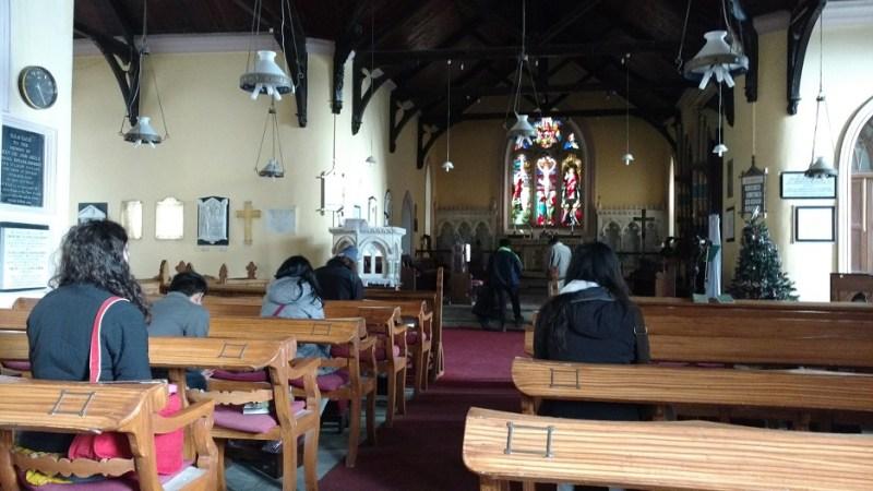 Inside the Church in Mussoorie