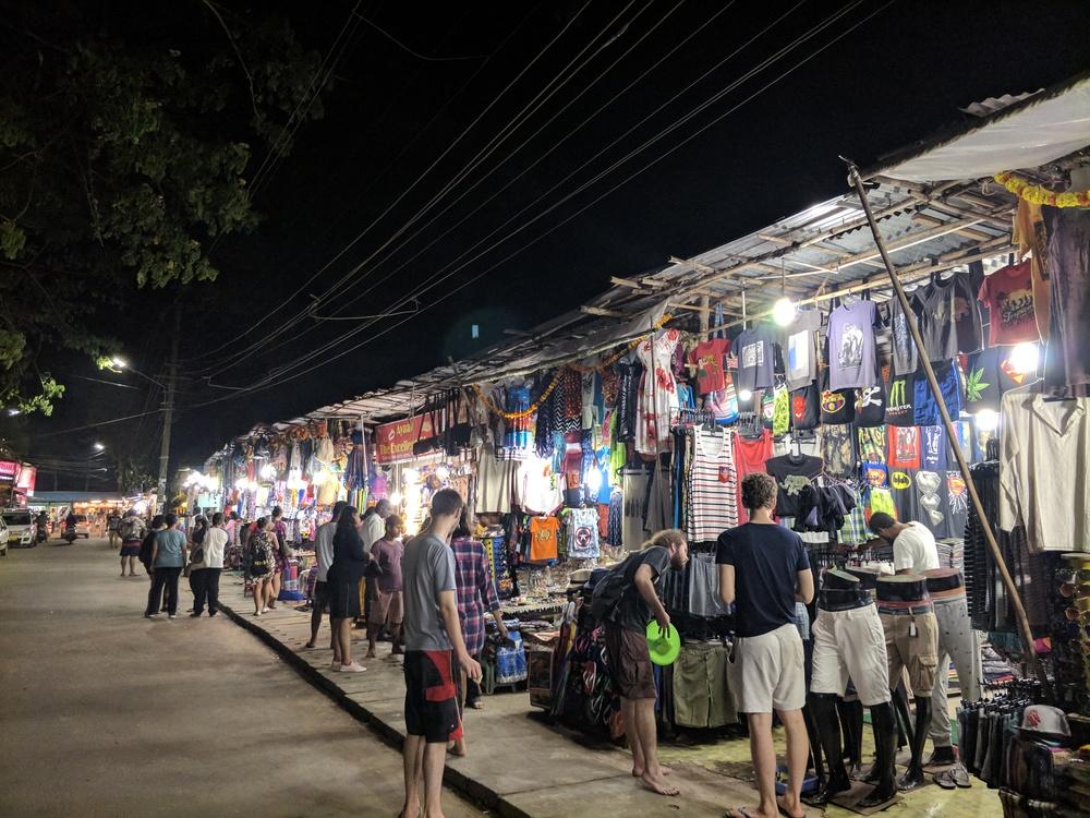 Palolem Beach bazaar
