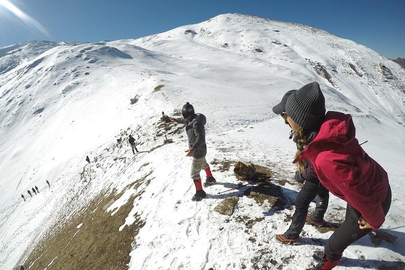 At the Kuari Pass