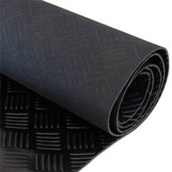 traanplaat rubber - checkermat rubber plaat
