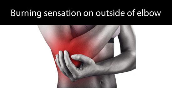 burning elbow symptoms