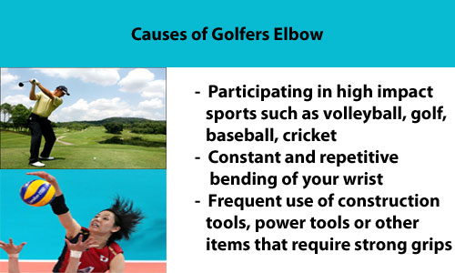 causes of golfers elbow