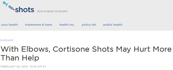 cortisone shots tennis elbow