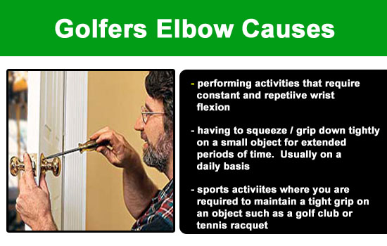 golfers elbow causes