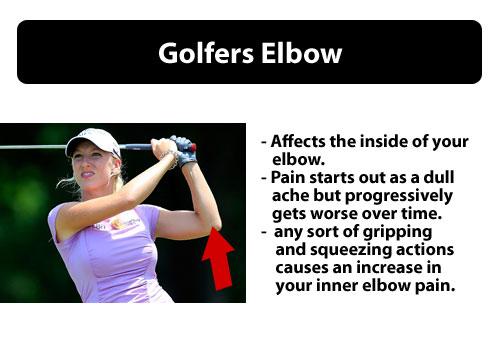golfers elbow pain