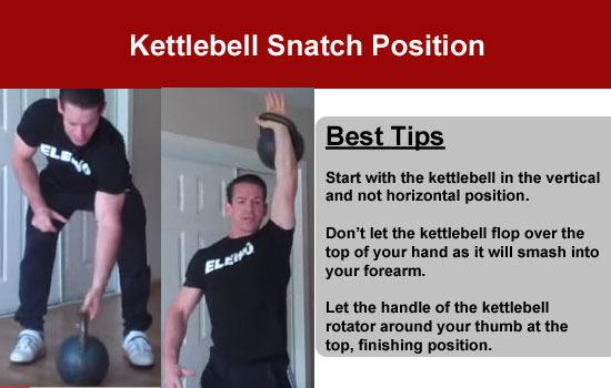 kettlebell snatch position