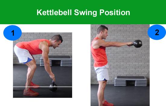 kettlebell swing position