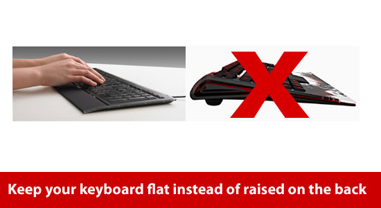 flat keyboard for elbow