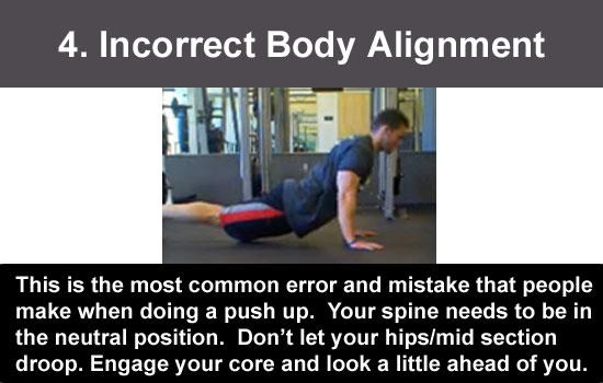 poor body alignment