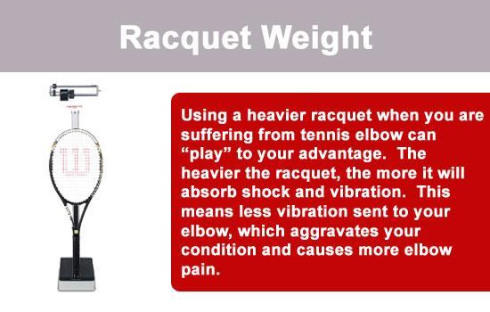 tennis racquet weight