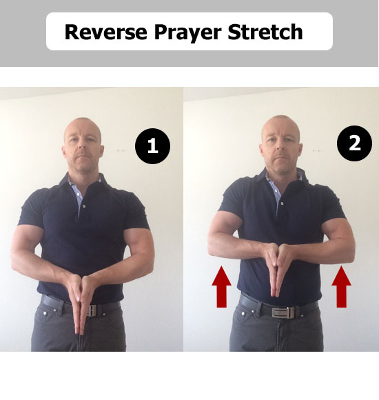 reverse prayer stretch