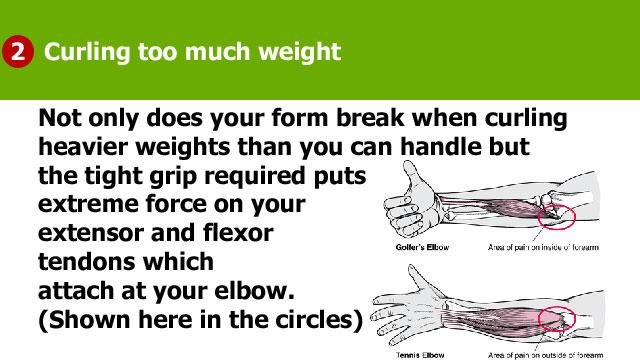 why do my biceps hurt when i straighten my arm