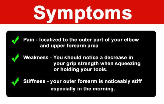 symptoms of gardeners elbow