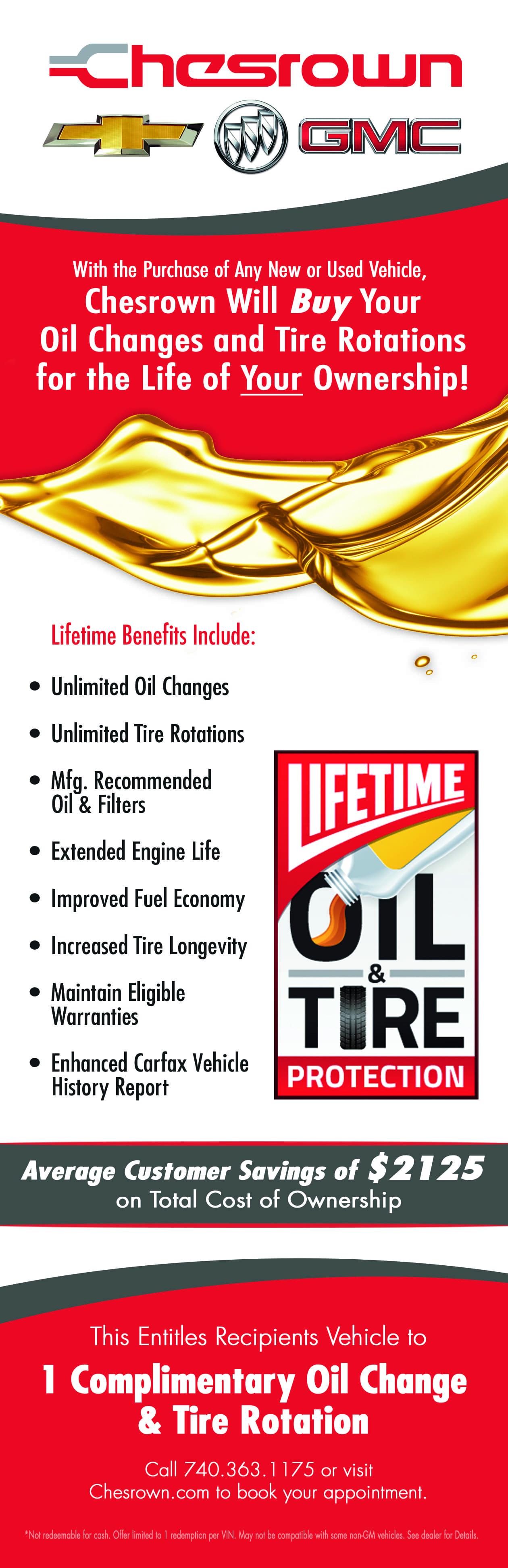 Lifetime Oil & Tire Protection