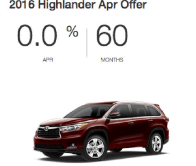 Purchase A New Highlander With 0 Apr For 60 Months At Toyota Place
