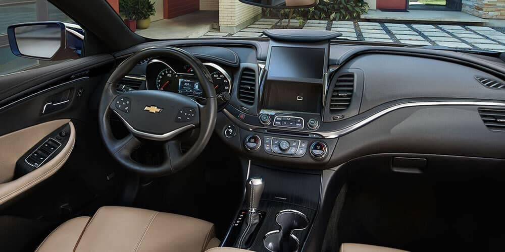 Black Chevy Impala 2017 Inside