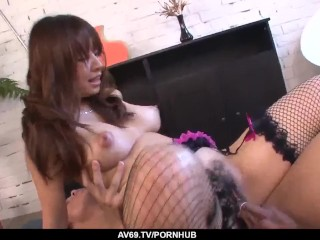 Busty Buruma Aoi sure loves the dick in her tight – More at 69avs.com