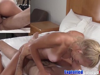 Coed Chanel Summers cum sprayed after fucking balls hard