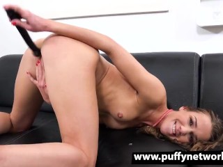 Alexis Crystal Pisses Through Her Jeans